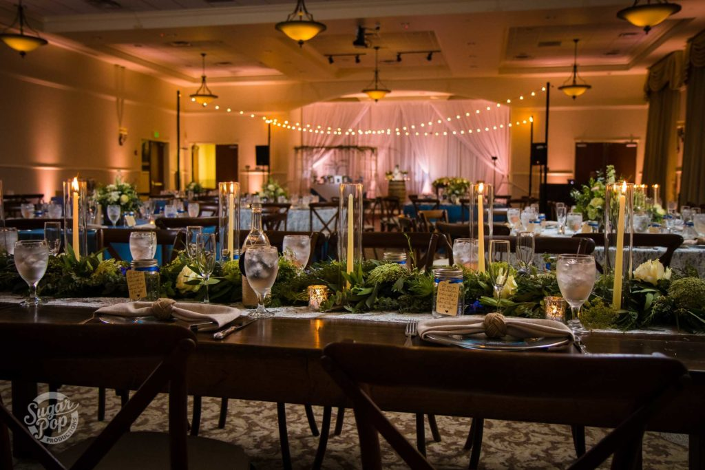 Indoor Lighting Wedding at Lake Mary Event Center