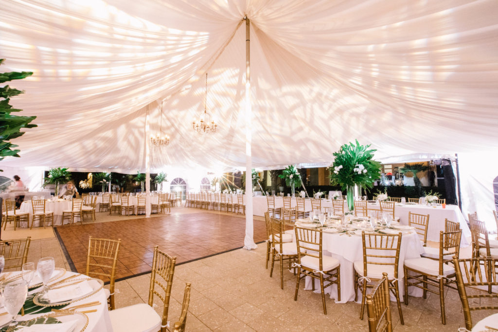 tent wedding lighting