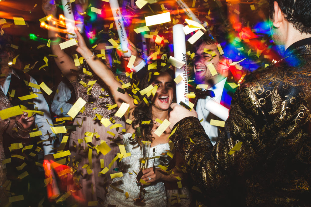 Confetti filled Bella Collina Wedding