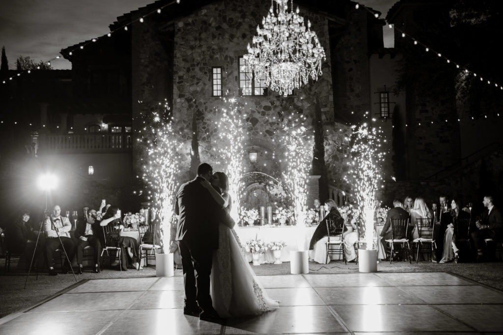 First dance with sparkler